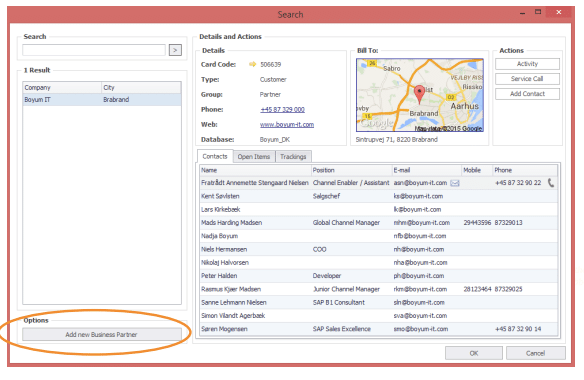 CRM for Outlook koppelingen
